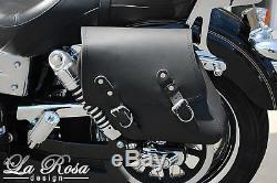 La Rosa Harley Street Bob Fat Bob Left Mount Saddlebag 1996 UP Black Leather