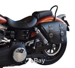 Leder Satteltasche links 12ltr. Harley Davidson Fat Street Bob Dyna Glide NEU