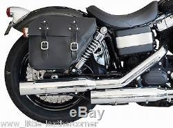 Leder Satteltasche rechts 12ltr. Harley Davidson Fat Street Bob Dyna Glide NEU