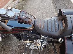 Leder tank panel tasche für Harley Davidson dyna street bob, low rider s