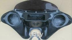 MOTORCYLE BATWING FAIRING WINDSHIELD 4 HARLEY Dyna Street Bob 2005- Up 6.5 SPKS
