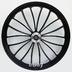 Manhattan Front Black Wheel 21 Harley Street Glide Flhx Electra Flhtc 2008-2013
