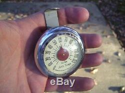 Original 1940s-50s Tel-tru Auto thermometer gage old vintage scta GM Ford Chevy