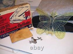 Original 1950s nos Air Stream Deflector auto vintage scta GM Ford Chevy ornament
