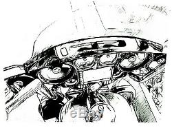 Quad 6.5 Inch Speaker Inner Fairing 2014 Up Street Electra Glide Harley Davidson