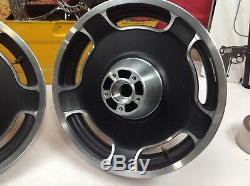 REAR & Front 02-08 OEM Harley Touring Street Glide Wheels 16x3 OEM