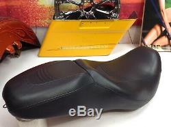 Rare 97-07 Harley Touring Electra Road King Street Glide Stitched Seat