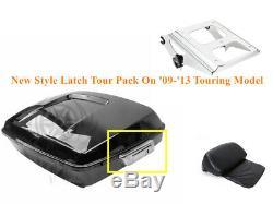 Razor Tour Pack Trunk +Backrest + Rack For Harley Road Street Glide 2009-2013