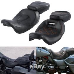 Rider Passenger Seat For Harley Touring Road King CVO Street Glide 2010-2019 US