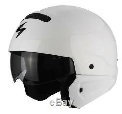 SCORPION EXO-COMBAT Modularhelm Weiss Größe XS-XXL Streetfighter Harley