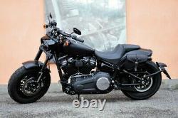 Saddle Bag Leather Harley Davidson Softail 2018-2021 Fat Bob, Slim, Street Bob
