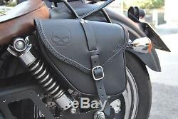 Saddle Bag Left Side For Harley Davidson Dyna Street Bob Wide Glide Fatbob