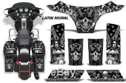 Saddlebags + Cowl Graphics Kit Decal Wrap For Harley-Davidson Street Glide LATIN