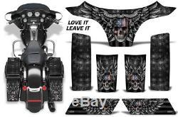 Saddlebags + Cowl Graphics Kit Decal Wrap For Harley-Davidson Street Glide LV LT