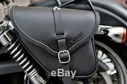 Satteltasche für Harley Davidson DYNA STREET BOB italienische Qualität leder