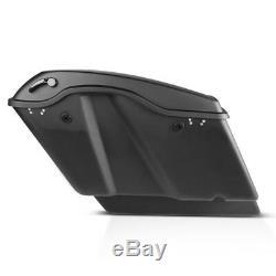 Seitenkoffer Stretched für Harley Davidson Street Glide FLHX 14-19 schwarz matt