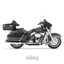 Seitenkoffer Stretched für Harley Davidson Touring Modelle 94-13 schwarz matt
