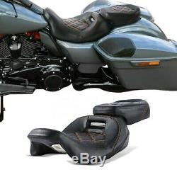 Sitzbank für Harley Street Glide 09-20 Leder Sitz Fahrer Beifahrer RH3