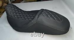 Street Glide HARLEY Seat Cover Grey Stitching & Logo P52320-11, 08-18 COVER ONLY