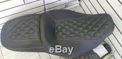 Street Glide HARLEY Seat Cover Orange Stitching P52320-11, 2008-18 COVER ONLY