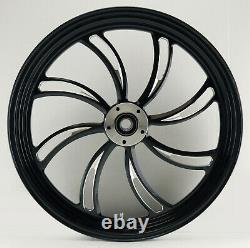 Twisted Vortex Front Black Wheel 21 Harley Street Glide Flhx Electra 08-13
