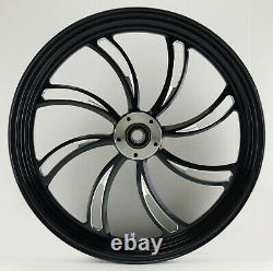 Twisted Vortex Front Black Wheel 21 Harley Street Glide Flhx Electra Flhtc