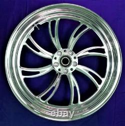 Twisted Vortex Rear Billet Wheel 16 Harley Electra Glide Road King Street 00-07