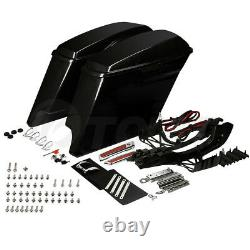 Unpainted Stretched Saddlebags For Harley Touring CVO Street Glide 2014-2020 19