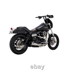 Vance & Hines Stainless 2 Into 1 Upsweep Exhaust For Harley Dyna