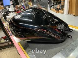 Vivid Black Gas Tank Harley M8 Milwaukee Softail Fatboy Low Ride Fat Street Bob