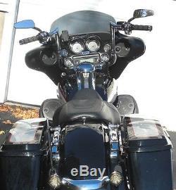 Yaffe Chrome 12 Monkey Handlebar Package 08-13 Harley Street Electra Glide ABS