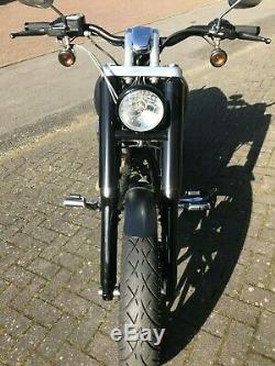 ZRide Gabelcover Harley Davidson Dyna Street Bob / Super Glide Schwarz Glanz